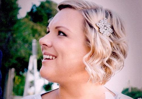 Svadobné účesy pre krátke vlasy - Obrázok č. 34