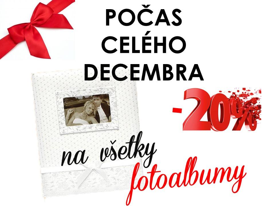 Počas celého decembra u nás platí 20%zľava na fotoalbumy - Obrázok č. 1