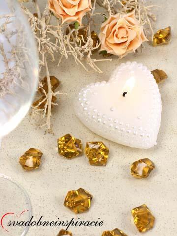 Dekoračné kamienky Diamantíky - Zlaté (50 ks) - Obrázok č. 2