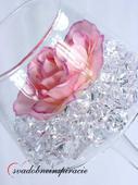 Dekoračné kamienky Diamantíky - Biele (50 ks),