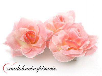 Dekoračné kvietky prilepovacie -ruže ružové(24 ks) - Obrázok č. 1