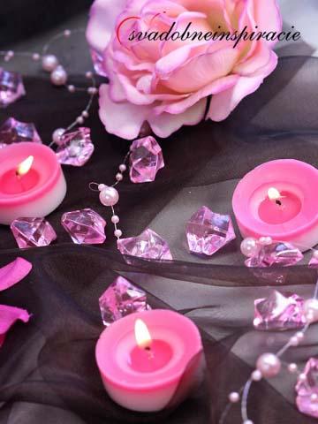Dekoračné kamienky Diamantíky - Ružové (50 ks) - Obrázok č. 1