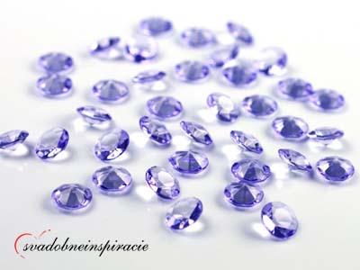 Dekoračné kamienky Diamantíky malé - Levanduľové  - Obrázok č. 1