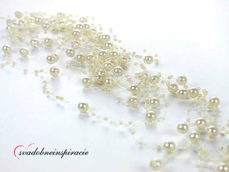 Perličkové girlandy na Vašu svadobnú výzdobu - Obrázok č. 3