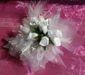 Kvetinový náramok N001 - biela,