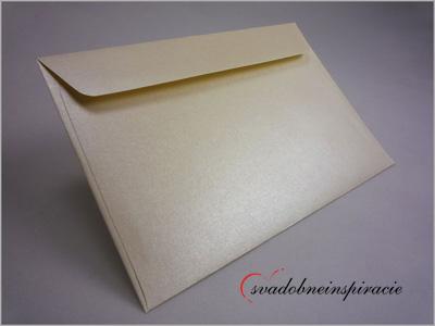 Perleťové obálky na svadobné oznámenia (5 ks) - Obrázok č. 1