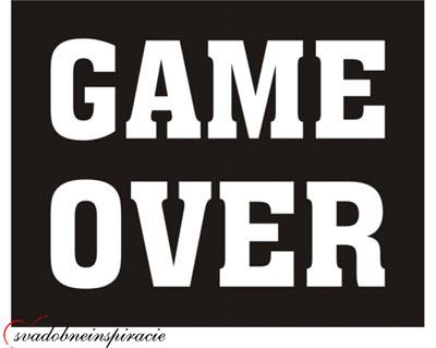 "Nálepky na topánky ""GAME OVER"" (2ks) - Obrázok č. 1"