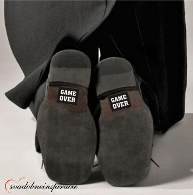 Originálne nálepky na topánky pre ženícha - Obrázok č. 4