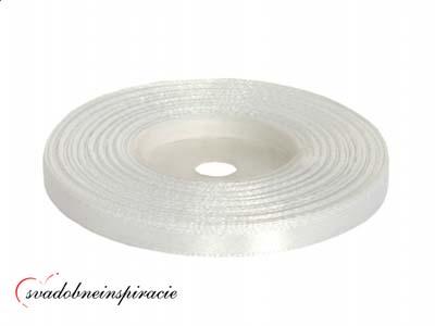 Ozdobná saténová stuha - biela (25 m) - Obrázok č. 1