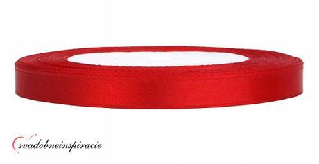 Ozdobná saténová stuha - červená (25 m) - Obrázok č. 1