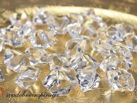 Dekoračné kamienky Diamantíky - Biele (50 ks) - Obrázok č. 2