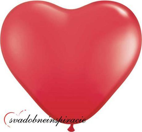 Balóniky červené srdcia (10 ks) - Obrázok č. 1