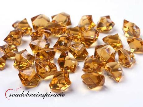 Dekoračné kamienky Diamantíky - Zlaté (50 ks) - Obrázok č. 1