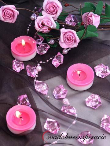 Dekoračné kamienky Diamantíky - Ružové (50 ks) - Obrázok č. 2