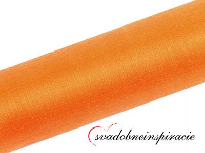Organza 0,16x9 m - Oranžová - Obrázok č. 1