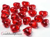 Dekoračné kamienky - srdiečka (červené), 30 ks ,