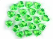 Dekoračné kamienky - SRDIEČKA (zelené), 30 ks ,