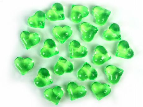 Dekoračné kamienky - SRDIEČKA (zelené), 30 ks  - Obrázok č. 1