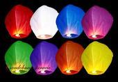Lietajúce lampióny šťastia - mix farieb(10 ks) ,