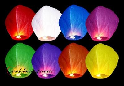 Lietajúce lampióny šťastia - mix farieb(10 ks)  - Obrázok č. 1
