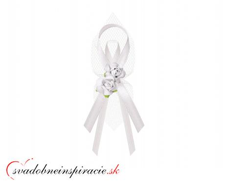 """Svadobné pierka """"Ružičky"""" - biele - Obrázok č. 1"""