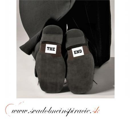 "Nálepky na topánky ""THE END"" (2 ks) - Obrázok č. 2"