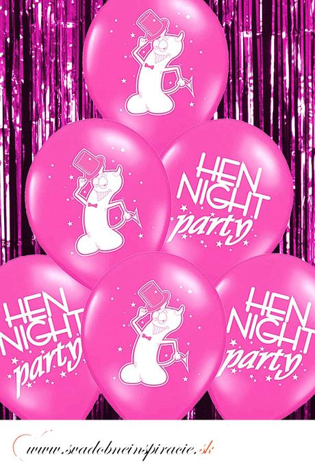 """Balóny """"HEN NIGHT PARTY"""" - Fuchsia (10 ks)  - Obrázok č. 1"""