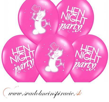 """Balóny """"HEN NIGHT PARTY"""" - Fuchsia (10 ks)  - Obrázok č. 2"""