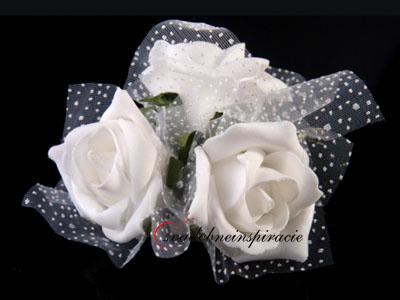 Dekoračné kvietky na prísavkách - ruže biele(4 ks) - Obrázok č. 1