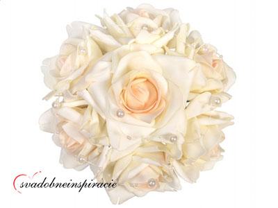 Kytička ruží prilepovacia - Smotanová - Obrázok č. 1