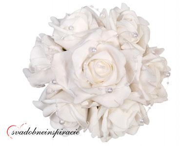 Kytička ruží prilepovacia - Biela - Obrázok č. 1