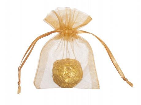 Vrecúška na darčeky - ZLATÉ 7,5x10 cm (20 ks) - Obrázok č. 1
