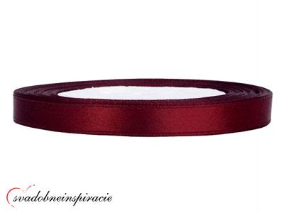 Ozdobná saténová stuha - bordová (25 m) - Obrázok č. 1