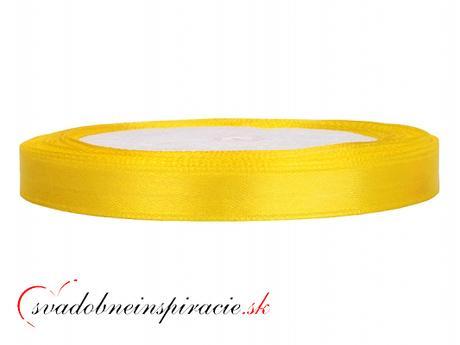 Ozdobná saténová stuha - žltá (25 m) - Obrázok č. 1