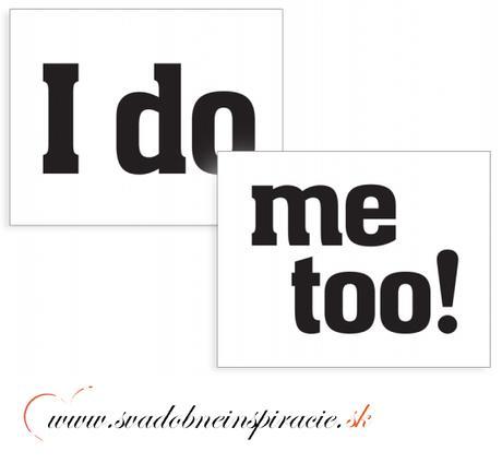 """Nálepky na topánky """"I DO - ME TOO"""" (2 ks) - Obrázok č. 1"""