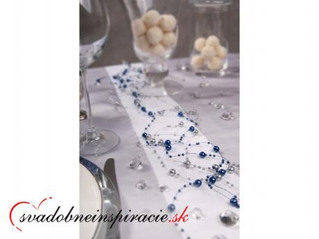 Perlová girlanda - Modrá (1,3 m, 5 kusov v balení) - Obrázok č. 2