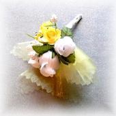 Svadobné pierko P018 - Žlté,
