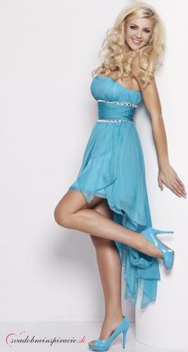 Spoločenské šaty CARMEN /Tyrkysové/ - Obrázok č. 1