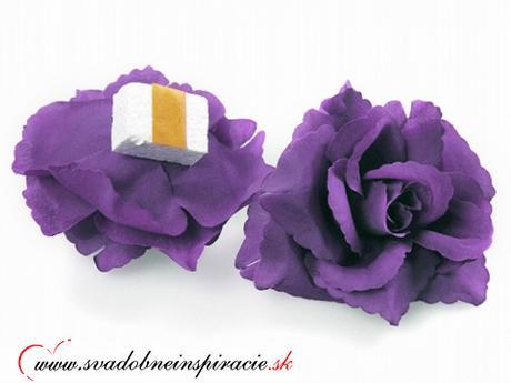 Dekoračné kvietky prilepovacie - ruže levanduľové  - Obrázok č. 2