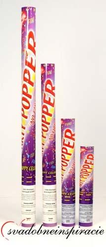 Vystreľovacie confetti - Farebné (40 cm) - Obrázok č. 2