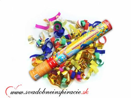 Vystreľovacie confetti - Farebné (40 cm) - Obrázok č. 1