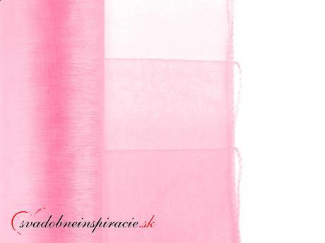 Organza obšitá 0,38x9 m - ružová - Obrázok č. 1
