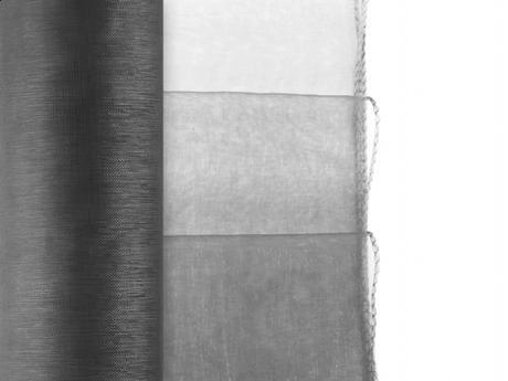 Organza obšitá 0,38x9 m - čierna - Obrázok č. 1