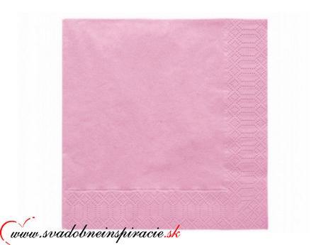 Servítky 3-vrstvové - ružové (20 ks)  - Obrázok č. 1
