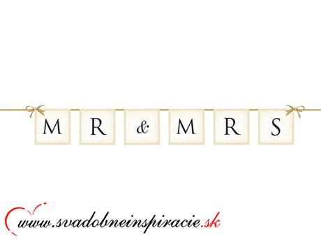 Girlanda MR&MRS (0,77 m)  - Obrázok č. 1