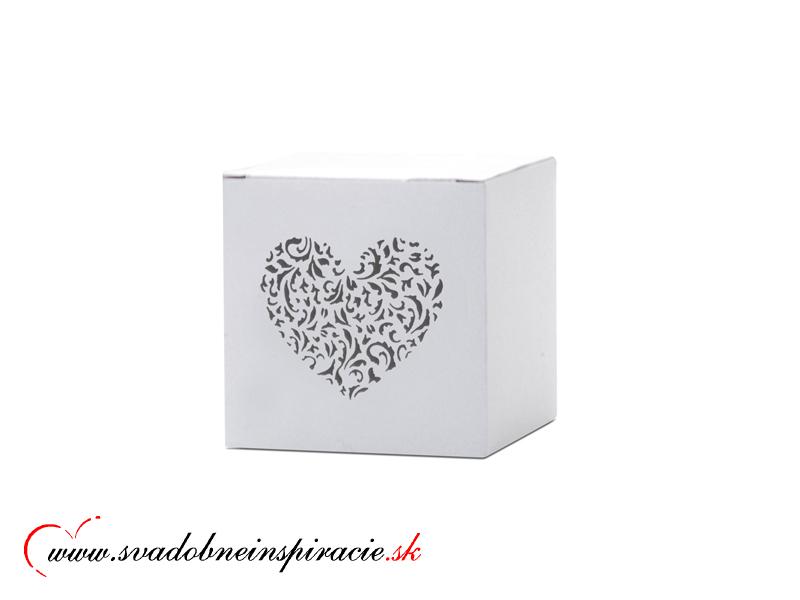 Krabičky na darčeky s gravírovaným srdiečkom (10ks - Obrázok č. 2