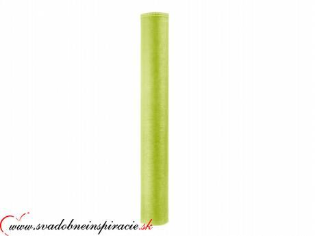 Organza obšitá 0,38x9 m - Jablkovozelená - Obrázok č. 2
