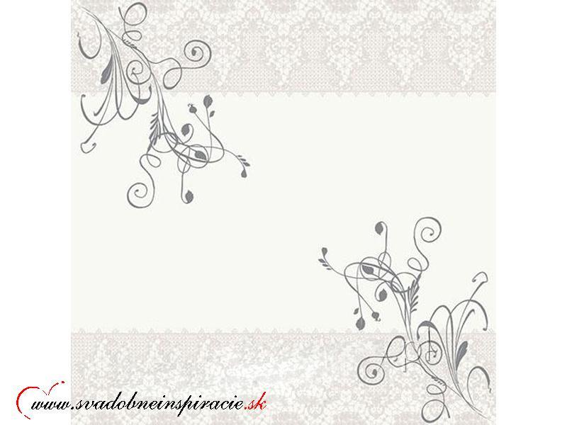 Servítky 3-vrstvové - Biely ornament  - Obrázok č. 1