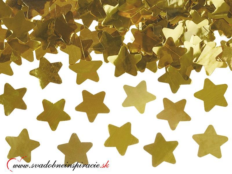 Vystreľovacie confetti - Zlaté hviezdičky (40 cm) - Obrázok č. 2