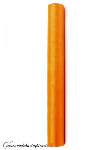 Organza 0,36x9 m - Oranžová - Obrázok č. 2